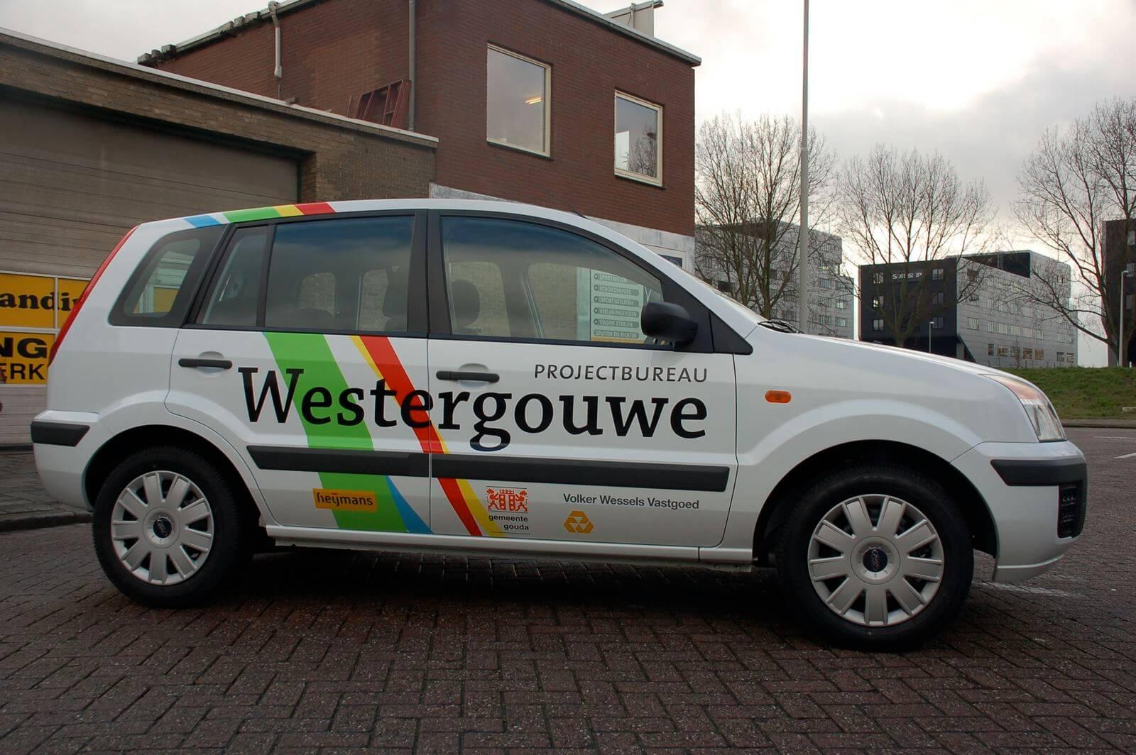 Westergouwe - Belettering